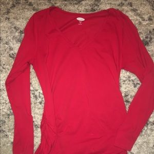 Old navy maternity long sleeve red shirt